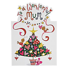 Buy Rachel Ellen Designs Wonderful Mum Christmas Card Online at johnlewis.com
