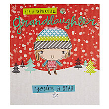 Buy Pigment Star Granddaughter Christmas Card Online at johnlewis.com