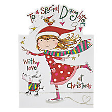 Buy Rachel Ellen Designs Special Daughter Skating Christmas Card Online at johnlewis.com