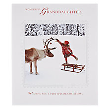 Buy Woodmansterne Wonderful Granddaughter Decorating Christmas Card Online at johnlewis.com