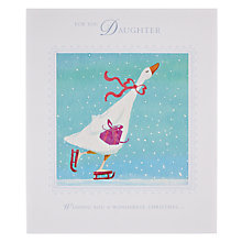 Buy Woodmansterne Ice Skating Goose Christmas Card Online at johnlewis.com