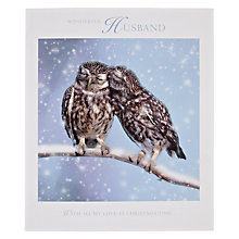 Buy Woodmansterne Wonderful Husband Owls Courtship Christmas Card Online at johnlewis.com