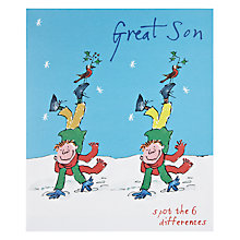 Buy Woodmansterne Great Son Spot the Difference Christmas Card Online at johnlewis.com
