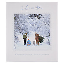 Buy Woodmansterne Family in Snowy Forest Christmas Card Online at johnlewis.com