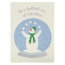 Buy James Ellis Stevens Snowman Son Retro Christmas Card Online at johnlewis.com