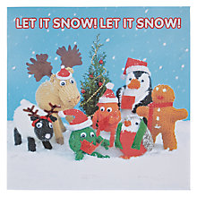 Buy Mint Let it Snow Knitted Friends Christmas Card Online at johnlewis.com