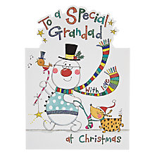 Buy Rachel Ellen Designs Special Grandad Snowman Christmas Card Online at johnlewis.com