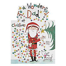 Buy Rachel Ellen Designs Wonderful Dad Christmas Lights Christmas Card Online at johnlewis.com