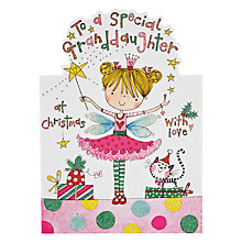 Buy Rachel Ellen Designs Special Granddaughter Fairy Christmas Card Online at johnlewis.com