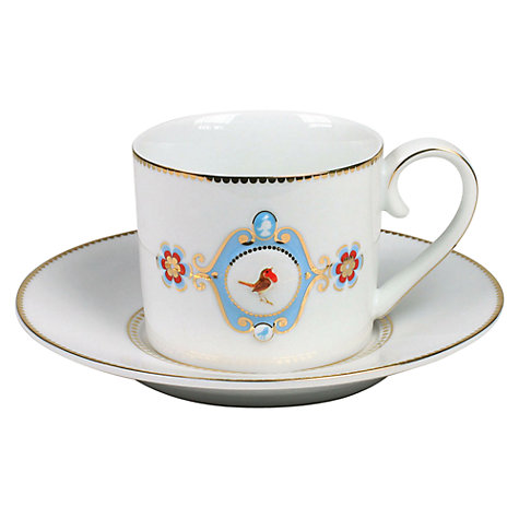 Buy PiP Studio Love Birds Teacup & Saucer, 0.2L Online at johnlewis.com