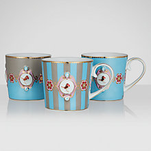 Buy PiP Studio Love Birds Senseo Mugs, 0.15L, Set of 3, Blue/ Khaki Online at johnlewis.com