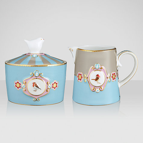 Buy PiP Studio Love Birds Sugar Bowl and Creamer, Blue Online at johnlewis.com