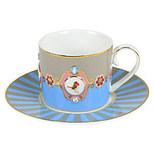 Buy PiP Studio Love Birds Striped Tea Cup & Saucer, 0.2L Online at johnlewis.com