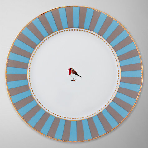 Buy PiP Studio Love Birds Striped Dessert Plate Online at johnlewis.com