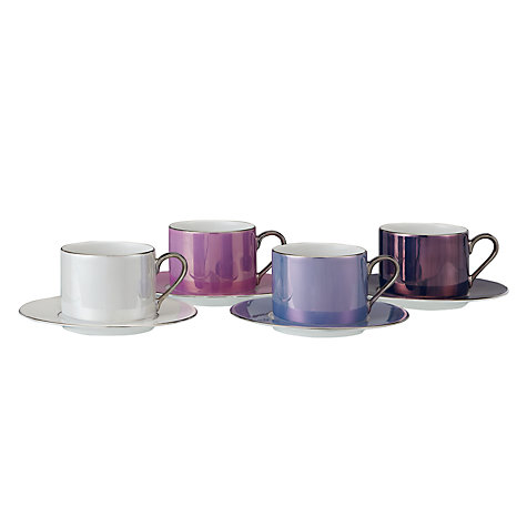 Buy LSA Polka Teacup & Saucer, Set of 4 Online at johnlewis.com