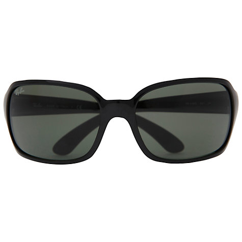 Buy Ray-Ban RB4068 601 Rectangular Sunglasses, Black Online at johnlewis.com
