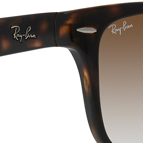 Buy Ray-Ban RB4105 710/51 Wayfarer Folding Sunglasses, Havana Online at johnlewis.com