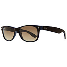 Buy Ray-Ban RB2132 874/51 New Wayfarer Acetate Frame Sunglasses, Brown Online at johnlewis.com