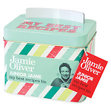 Buy Jamie Oliver Junior Recipe Tin Online at johnlewis.com