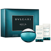 Buy Bvlgari Aqua Pour Homme Eau de Toilette Fragrance Set, 50ml Online at johnlewis.com