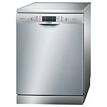 Buy Bosch SMS65E38GB Freestanding Dishwasher, Silver Online at johnlewis.com