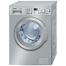 Buy Bosch Exxcel WAQ2436SGB Washing Machine, 8kg Load, A+++ Energy Rating, 1200rpm Spin, Stainless Steel Online at johnlewis.com