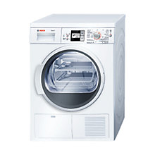 Buy Bosch WTS86501GB Sensor Condenser Tumble Dryer, 7kg Load, B Energy Rating, White Online at johnlewis.com