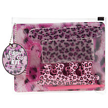 Buy Leopard Print Manicure Kit, Pink Online at johnlewis.com