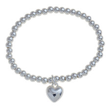 Buy Little Ella Heart Detail Bracelet, Silver Online at johnlewis.com