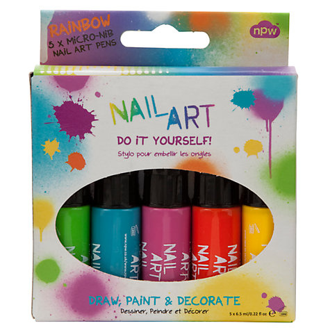 Buy Nail Art Pens, Pack of 5, Multi Online at johnlewis.com