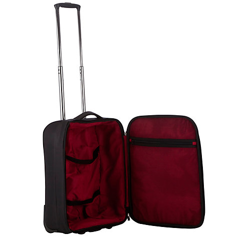 Buy John Lewis Z-Lite 2-Wheel 55cm Cabin Suitcase, Black Online at johnlewis.com