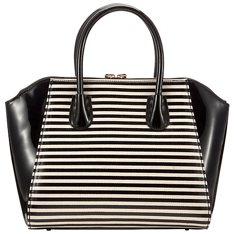 Buy COLLECTION by John Lewis Large Patent Wings Grab Handbag, Black/White Online at johnlewis.com