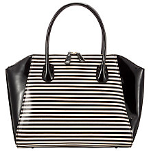 Buy COLLECTION by John Lewis Large Patent Wings Shoulder Handbag, Black/White Online at johnlewis.com