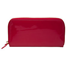 Buy COLLECTION by John Lewis Patent Synthetic Zip Around Purse Online at johnlewis.com