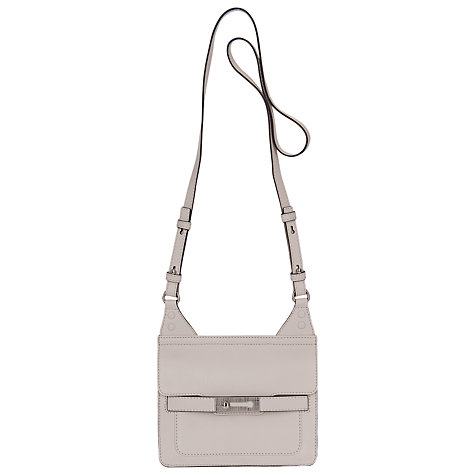 Buy French Connection Small Leather Shoulder Handbag, Willow White Online at johnlewis.com