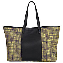 Buy French Connection Printed Shopper Handbag, Sulphur/Black Online at johnlewis.com