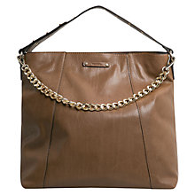 Buy Mango Studded Shopper, Brown Online at johnlewis.com