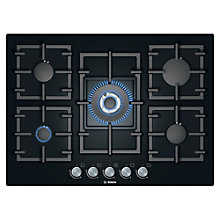 Buy Bosch PPQ716B91E Gas Hob, Black Online at johnlewis.com