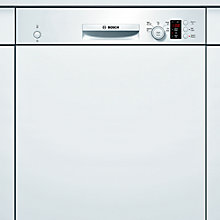 Buy Bosch SMI50C02GB Semi-Integrated Dishwasher, White Online at johnlewis.com