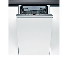 Buy Bosch SPV68L00GB Integrated Slimline Dishwasher, Silver Online at johnlewis.com