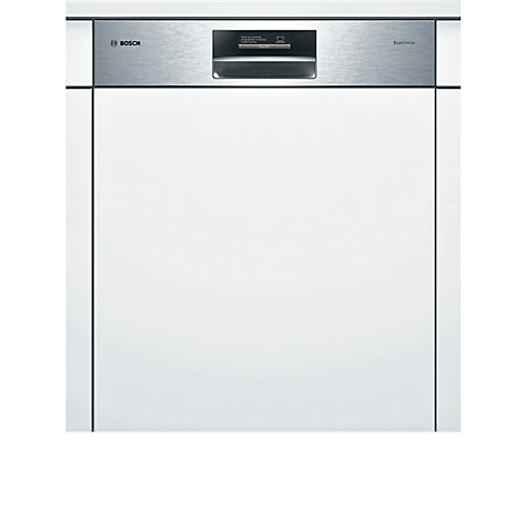Buy Bosch SMI69T25GB Semi-Integrated Dishwasher, Brushed Steel Online at johnlewis.com