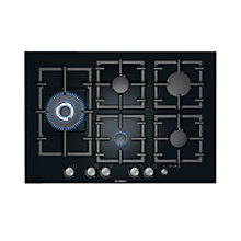 Buy Bosch PPS816M91E Gas Hob, Black Online at johnlewis.com