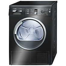 Buy Bosch WTE863B2GB Sensor Condenser Tumble Dryer, 7kg Load, B Energy Rating, Black Online at johnlewis.com