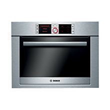 Buy Bosch Logixx HBC36D754B Combination Steam Oven, Brushed Steel Online at johnlewis.com