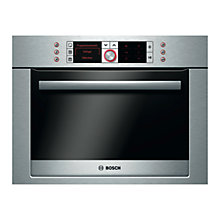 Buy Bosch Logixx HBC86P753B Compact Single Oven with Microwave, Brushed Steel Online at johnlewis.com