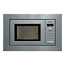 Buy Bosch HMT75M651B Built-In Compact Microwave, Brushed Steel Online at johnlewis.com