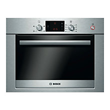 Buy Bosch Exxcel HBC24D553B Single Electric Steam Oven, Brushed Steel Online at johnlewis.com