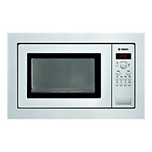 Buy Bosch HMT84M621B Built-In Compact Microwave, White Online at johnlewis.com