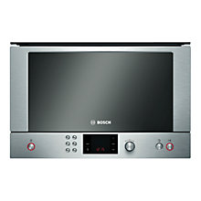Buy Bosch Exxcel HMT85ML53B Built-In Compact Microwave, Brushed Steel Online at johnlewis.com