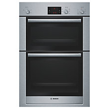 Buy Bosch Exxcel HBM13B550B Double Electric Oven, Brushed Steel Online at johnlewis.com